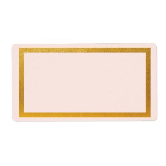 Étiquette de adresse de blanc d'aluminium de faux