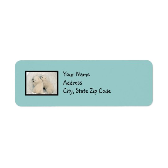 Étiquette de adresse de bleu des oeufs de Robin