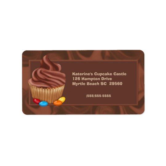 Étiquette de adresse de boulangerie