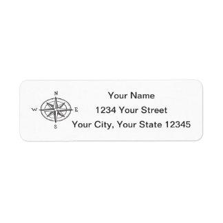 Étiquette de adresse de boussole
