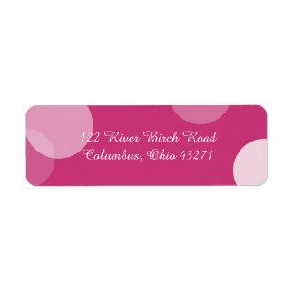 Étiquette de adresse de confettis de point de