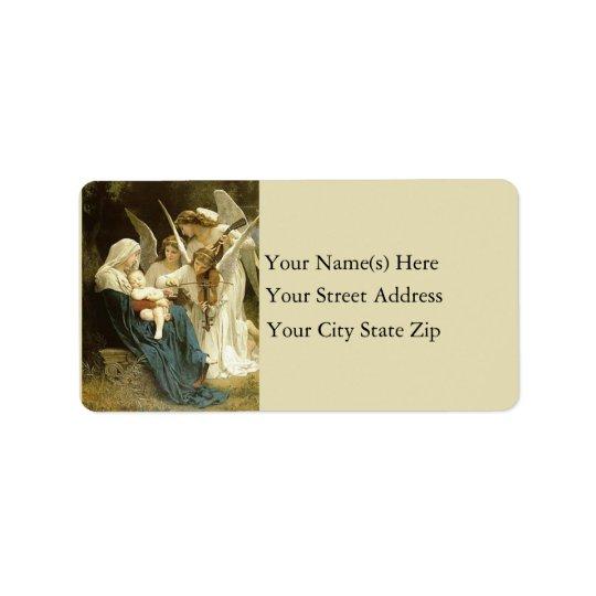 Étiquette de adresse de cru de Mary de sérénade
