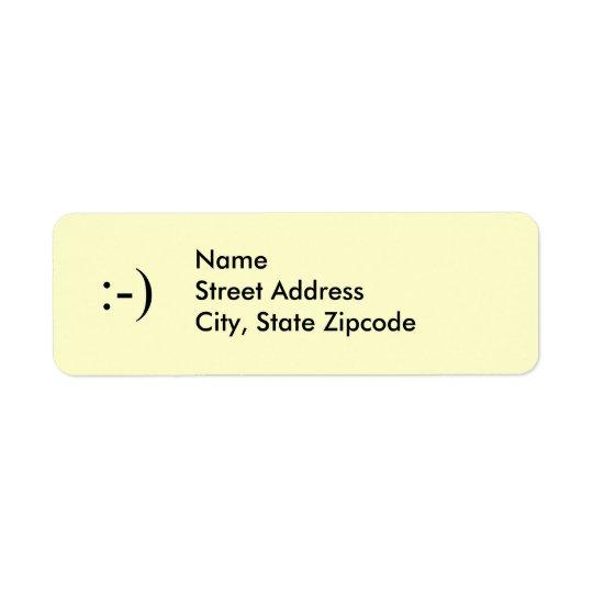 Étiquette de adresse de ~ de sourire