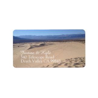 Étiquette de adresse de Death Valley