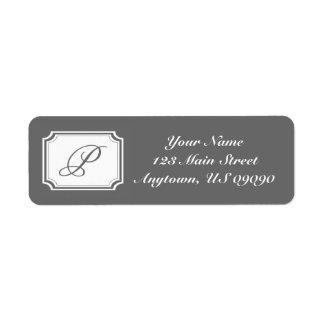 Étiquette de adresse de fantaisie de P Mongram (gr