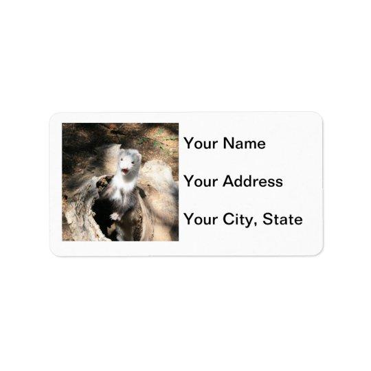 Étiquette de adresse de furet