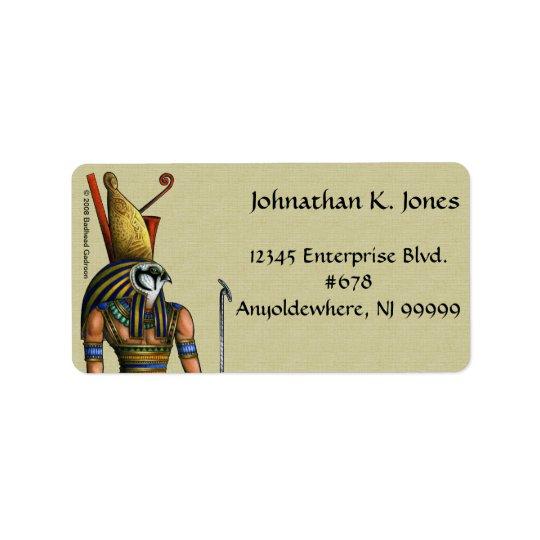 Étiquette de adresse de Horus