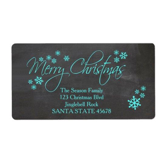 Étiquette de adresse de Joyeux Noël