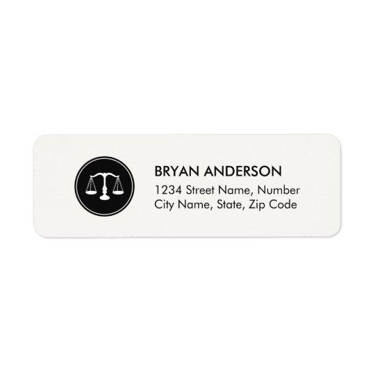 Étiquette de adresse de mandataire d'avocat
