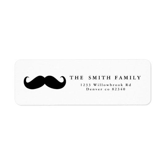 Étiquette de adresse de moustache
