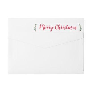 Étiquette de adresse de Noël de brins d'hiver