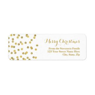 Étiquette de adresse de Noël de confettis de