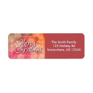 Étiquette de adresse de norme de Joyeux Noël