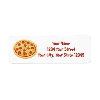 Étiquette de adresse de pizza