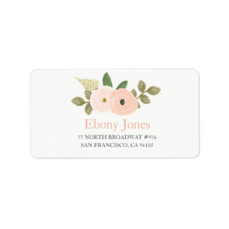Étiquette de adresse de Quinceanera de fleur