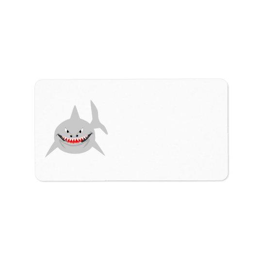 Étiquette de adresse de requin