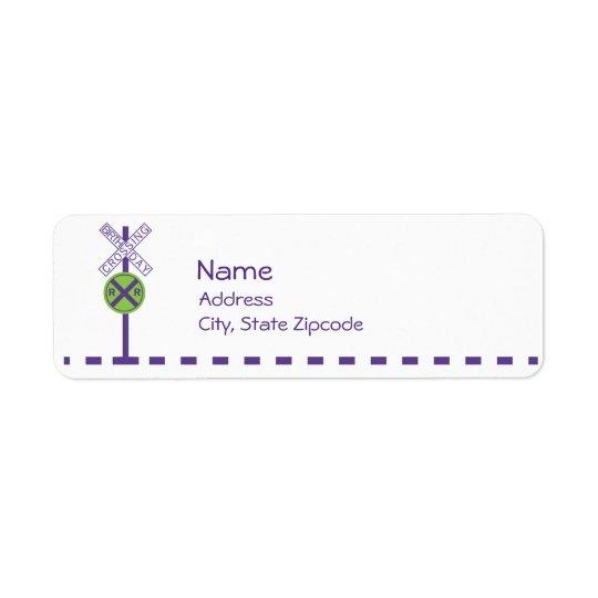 Étiquette de adresse de retour d'anniversaire - tr