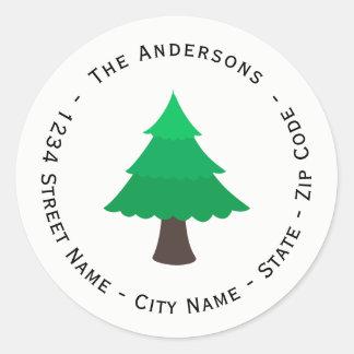Étiquette de adresse de retour d'arbre de Noël
