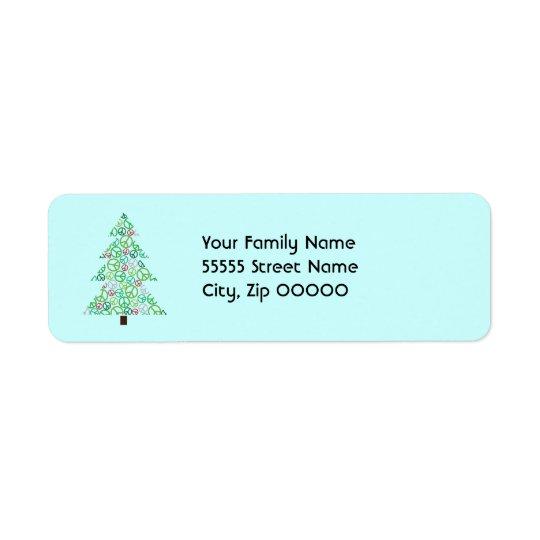 Étiquette de adresse de retour d'arbre de paix