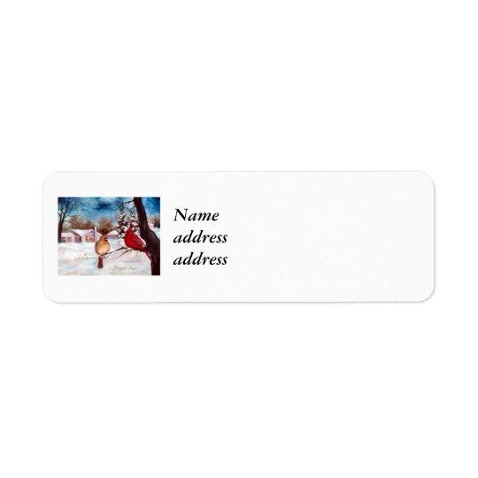 Étiquette de adresse de retour d'Avery de sérénité