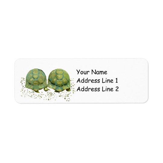 Étiquette de adresse de retour d'Avery de tortues