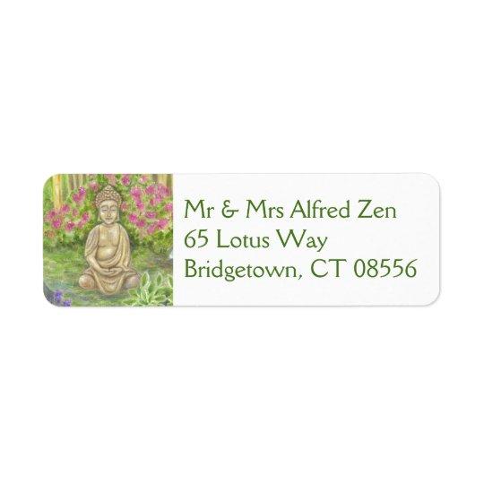 Étiquette de adresse de retour de Bouddha