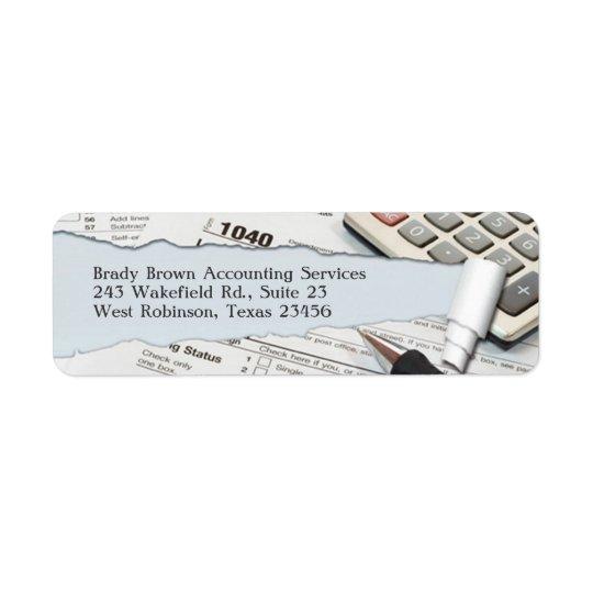 Étiquette de adresse de retour de comptabilité