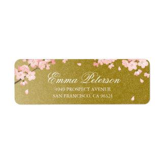 Étiquette de adresse de retour de fleurs de