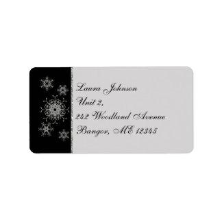 Étiquette de adresse de retour de flocons de neige