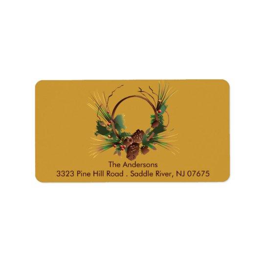 Étiquette de adresse de retour de guirlande de côn