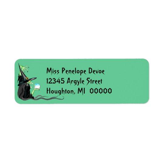 Étiquette de adresse de retour de Halloween de