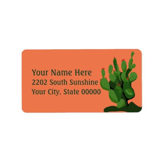 Étiquette de adresse de retour de l'Arizona de