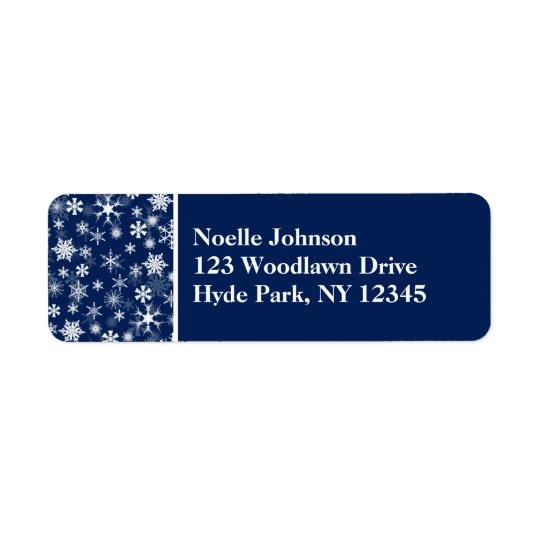 Étiquette de adresse de retour de marine et de