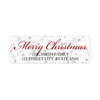 étiquette de adresse de retour de Noël