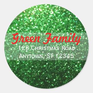 Étiquette de adresse de retour de Noël de Sticker Rond