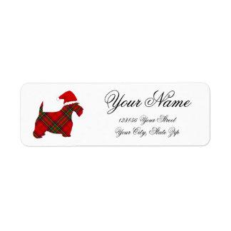 Étiquette de adresse de retour de Père Noël de