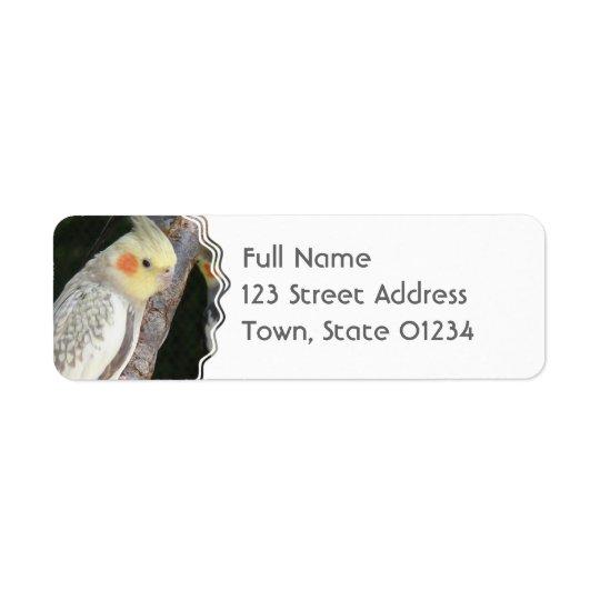 Étiquette de adresse de retour de perroquet de