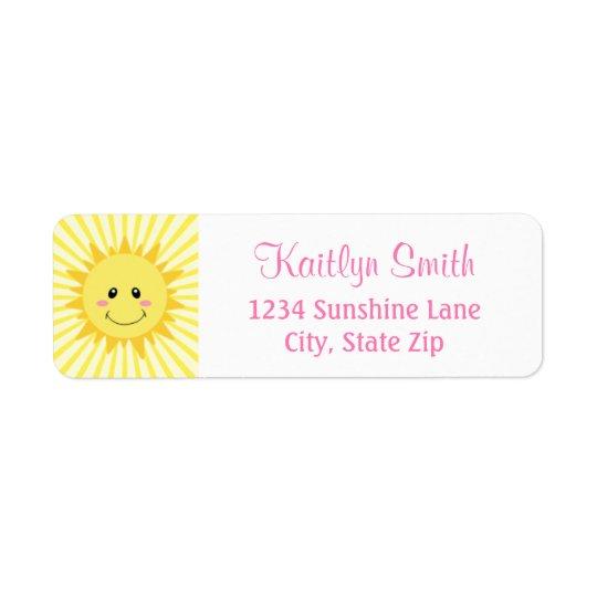 Étiquette de adresse de retour de soleil