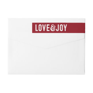 Étiquette de adresse de retour de vacances d'amour