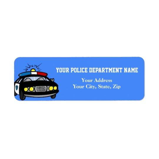 Étiquette de adresse de retour de voiture de
