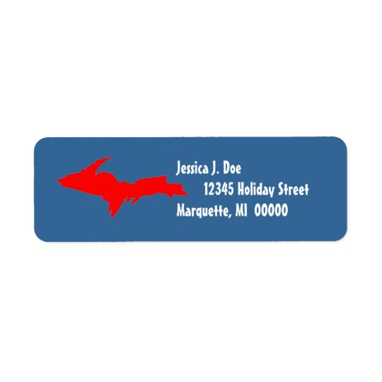 Étiquette de adresse de retour HAUT du Michigan de