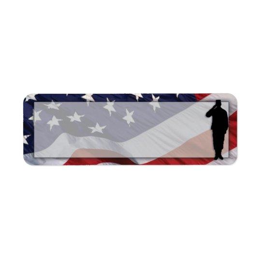Étiquette de adresse de retour patriotique