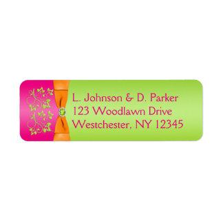 Étiquette de adresse de ruban IMPRIMÉ par chaux Étiquette D'adresse Retour