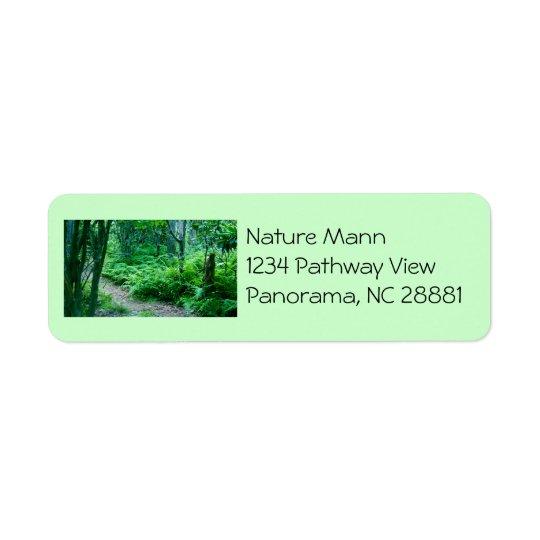 Étiquette de adresse de sentier de randonnée de