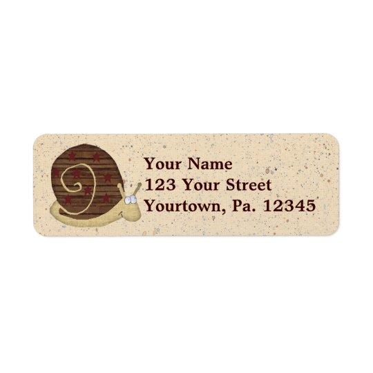 Étiquette de adresse de snail mail