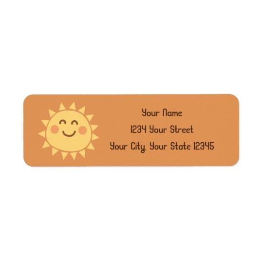 Étiquette de adresse de soleil