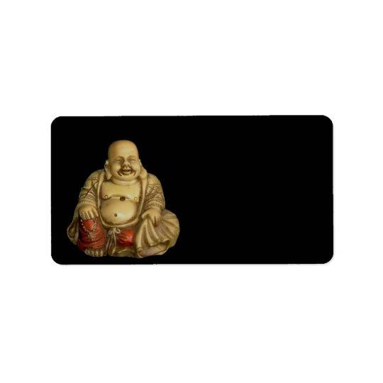 Étiquette de adresse de statue de Bouddha