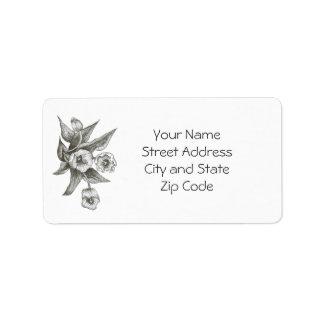 Étiquette de adresse de tulipe à personnaliser ou
