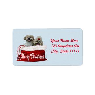 Étiquette de adresse de tzu de Shih, Noël