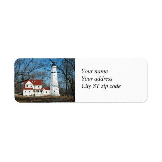 Étiquette de adresse de WI de Milw de phare de